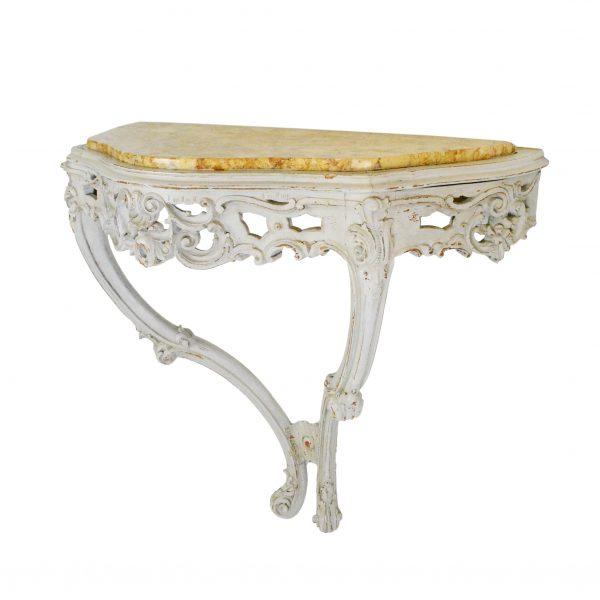 Rococo stiliaus riešutmedžio konsolė