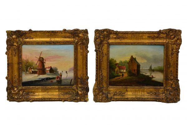 Antikvarinių paveikslų pora