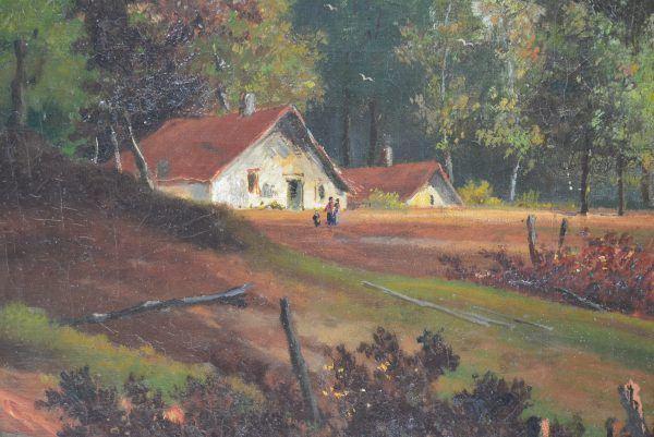 """M. Moreira paveikslas """"Sodyba miške"""""""