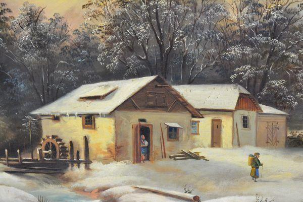 """Antikvarinis paveikslas """"Žiema"""""""