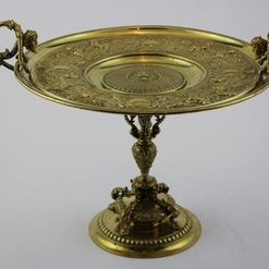 Bronzinė Napoleon III stiliaus  lėkštė