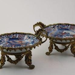 Imari stiliaus porcelianinės lėkštės