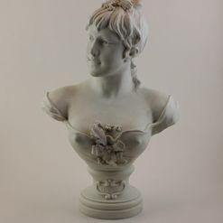 """N. Lecorney porcelianinis biustas """"Žiema"""""""