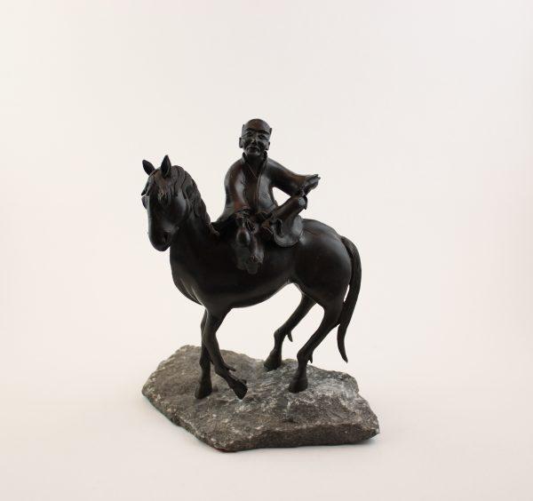 """Bronzinė skulptūra """"Kinų prekeivis"""""""