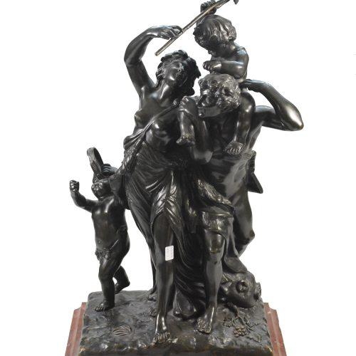 "Bronzinė Clodion skulptūra ""Fauno šeima"""