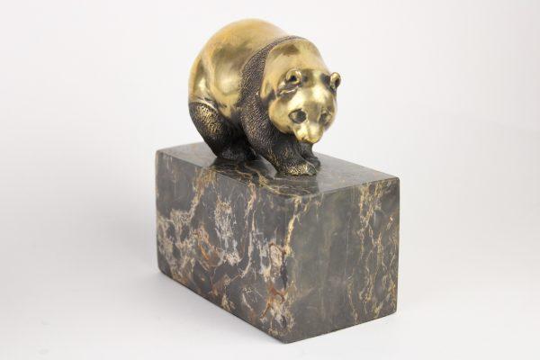 """M. Milo bronzinė skulptūra """"Panda"""" 20 a."""