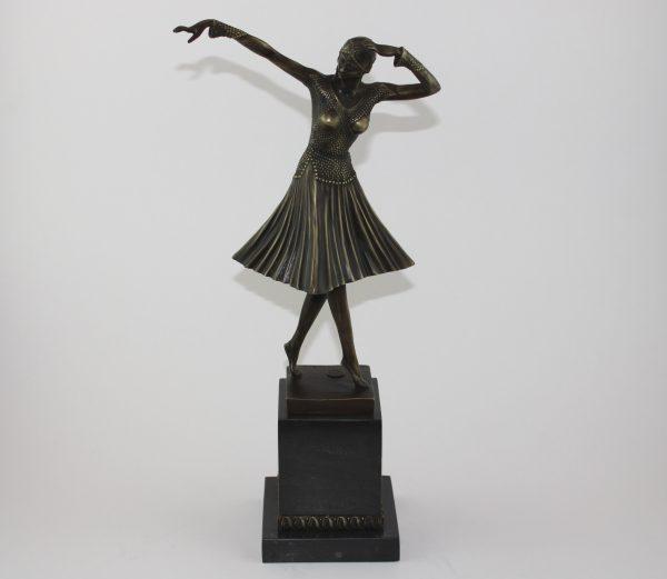 """Art Deco bronzinė skulptūra šokėja """"Miro"""""""