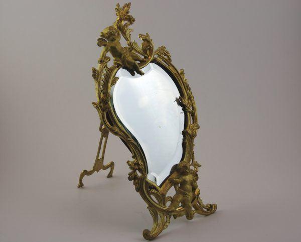Auksuotas prancūziško Rococo stiliaus veidrodis