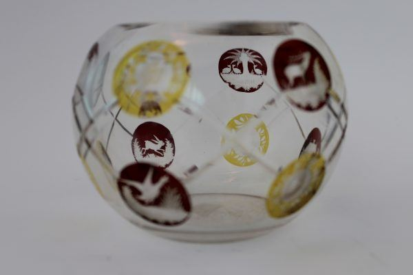 Spalvoto krištolo vaza