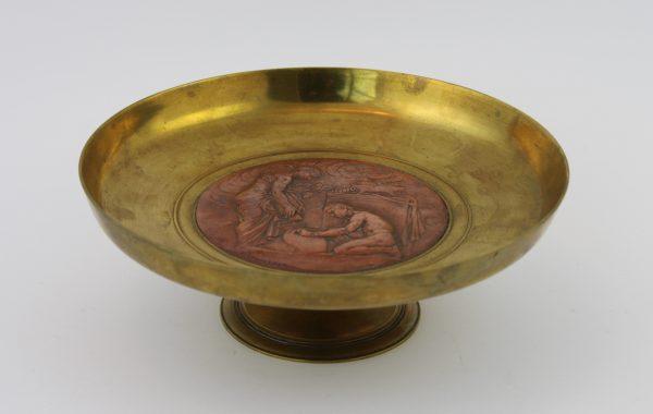 Bronzinė dekoratyvinė lėkštė