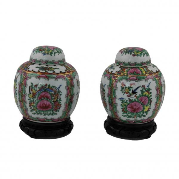 Moliūgo formos Kiniškos porceliano vazelės