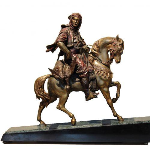 """Antoine Louis Barye skulptūra """"Arabas ant žirgo"""""""