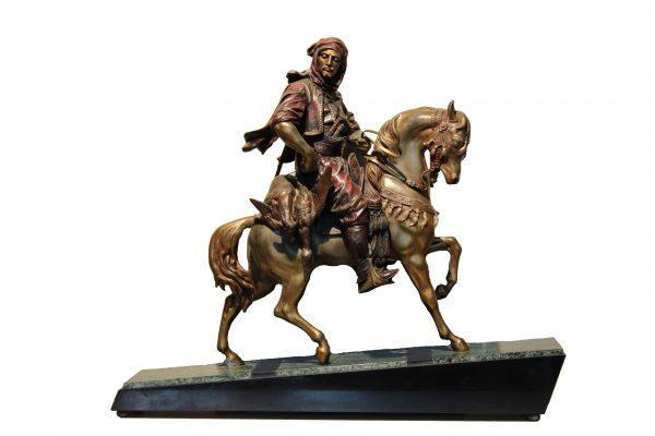 "Art deco stiliaus Antoine Louis Barye skulptūra ""Arabas ant žirgo"""