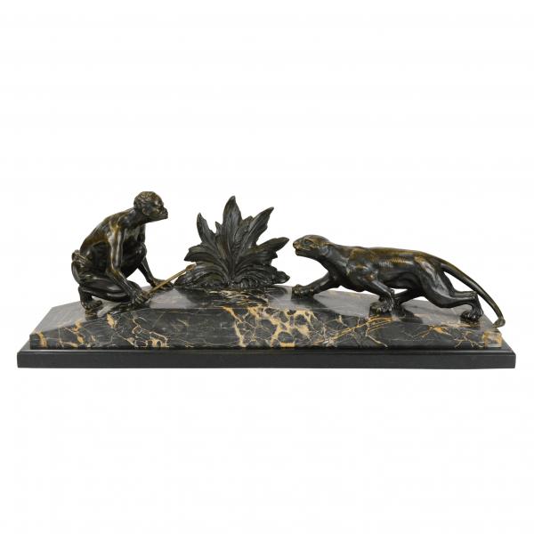 Antikvarinė bronzinė skulptūra 19 a. pab.