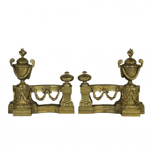 Louis XVI stiliaus židinio aksesuarų pora