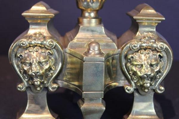 Antikvarinių židinio aksesuarų pora