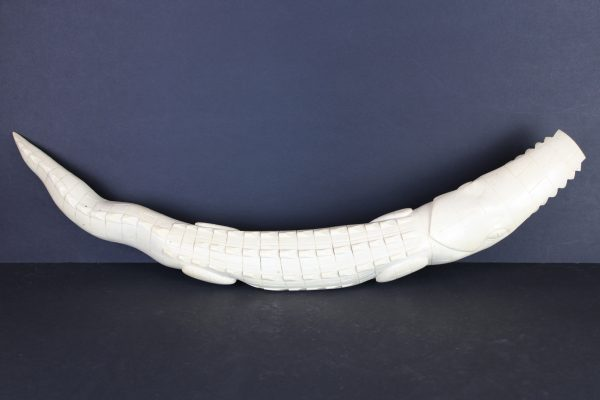 Antikvarinis kaulinis krokodilas