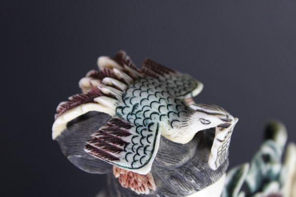 Kiniškų kaulo figūrėlių pora