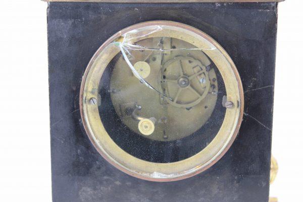 Napoleono III stiliaus bronzos ir marmuro laikrodis