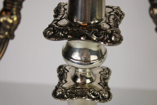 Angliškų Viktorijos epochos žvakidžių pora