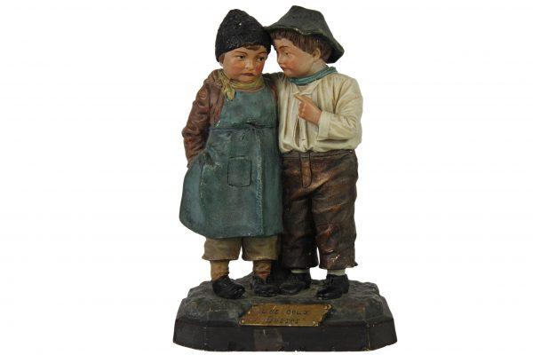 """Terakotos skulptūra """"Du vaikai"""""""