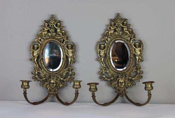 Antikvariniai Louis XVI stiliaus veidrodziai su zvakidemis