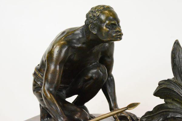 """Bronzinė Art Deco skulptūra """"Medžioklė"""" 20 a. pr."""