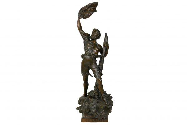 Bronzine Arthur Waagen skulptura Neviltis