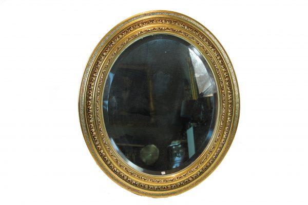Auksuotas antikvarinis veidrodis XIX a.