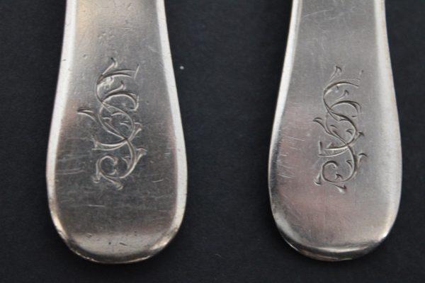 Antikvariniai sidabriniai šaukštai