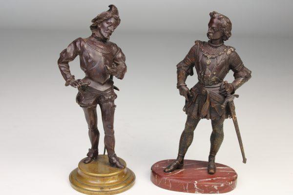 Antikvarinės bronzinės skulptūros 19 a. pab.