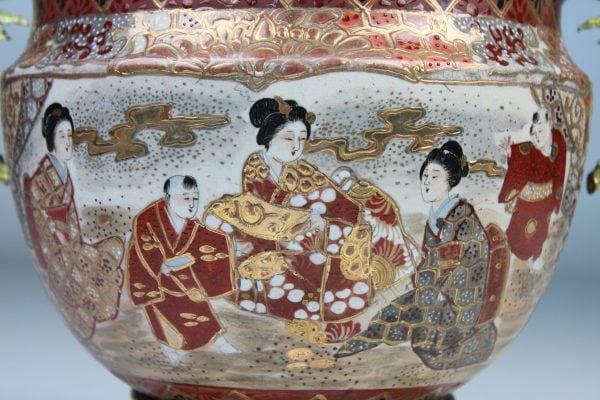 Japoniška Satsuma vaza 19 a. pab.