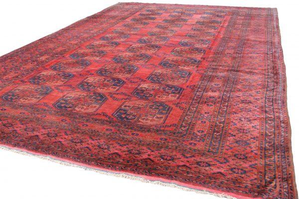 Rankų darbo antikvarinis Afghan kilimas 514 x 324