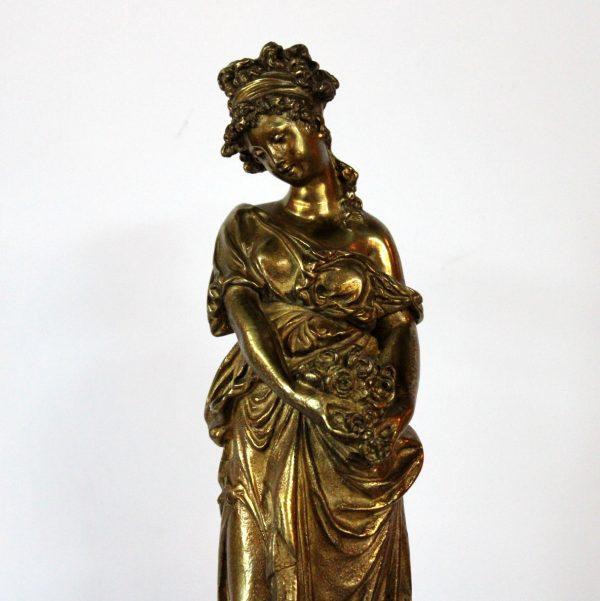 """Eugene Marioton bronzinė skulptūra """"Flora"""" 19 a. pab."""