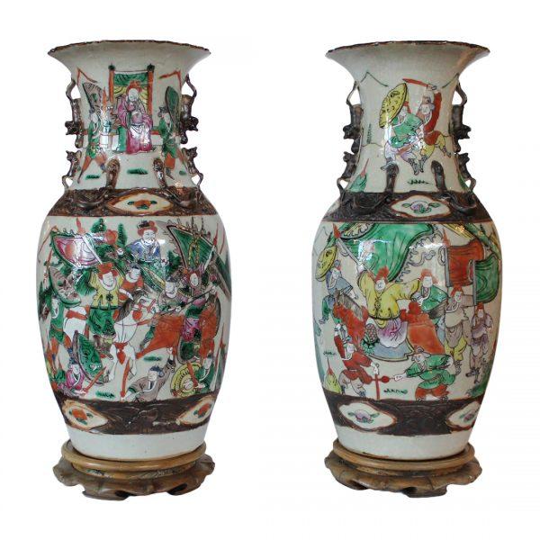 Nanjing kiniško porceliano vazos 19 a.pab.