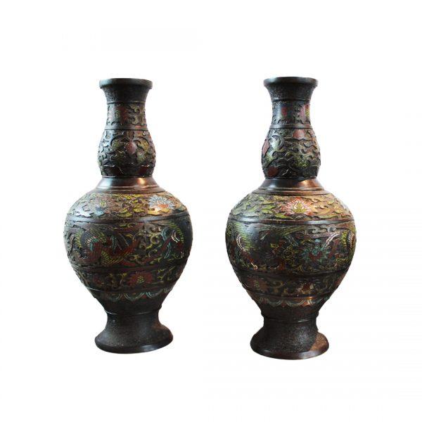 Kiniškos cloisonne vazos 20 a. vid.