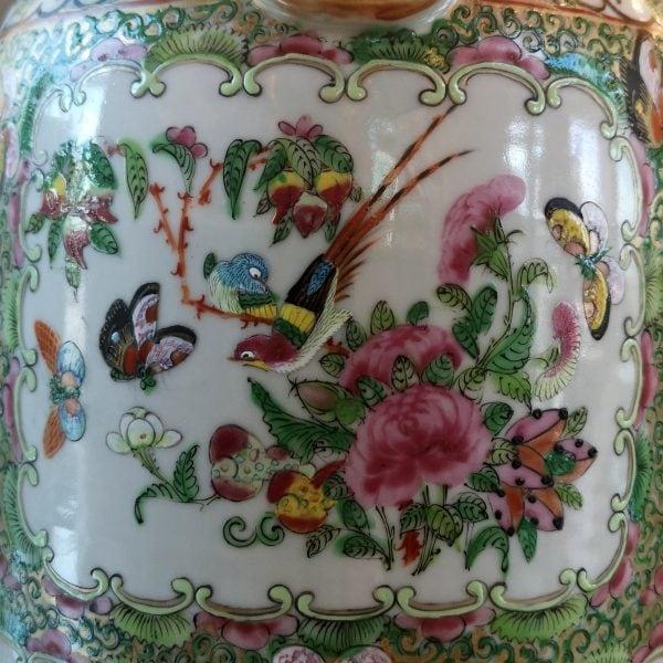 Kiniškos Canton porceliano vazos 20 a. pr.