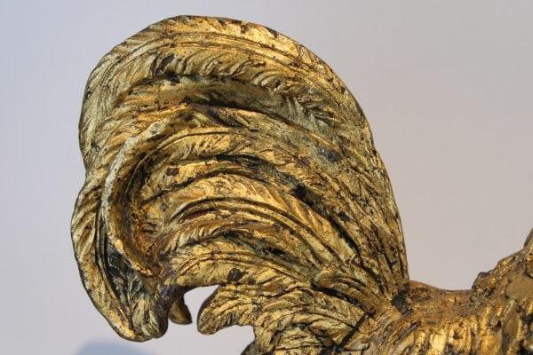 """Antikvarinė bronzinė skulptūra """"Gaidys"""""""