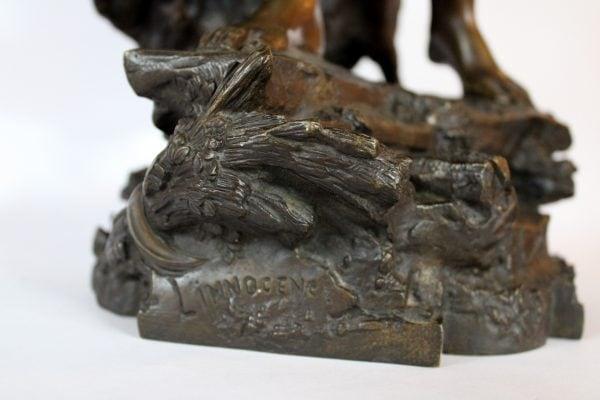 "Auguste de Wever bronzinė skulptūra ""Nekaltumas"" 19 a. pab."