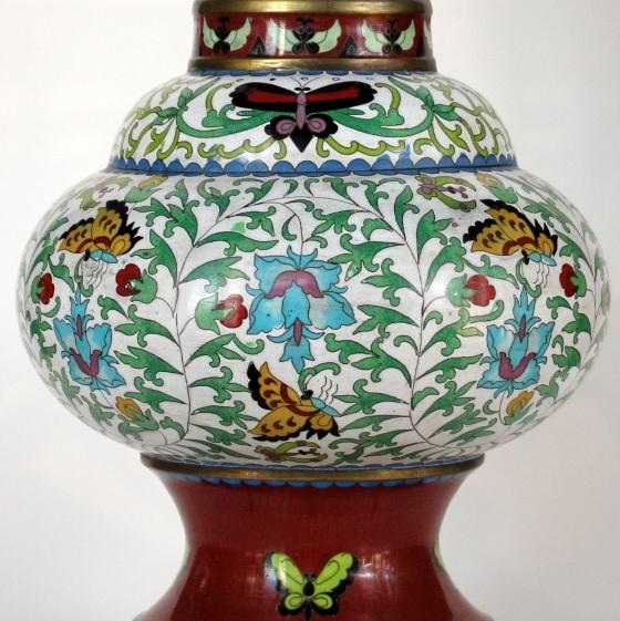 Kiniška bronzinėcloisonne vaza20 a.vid.