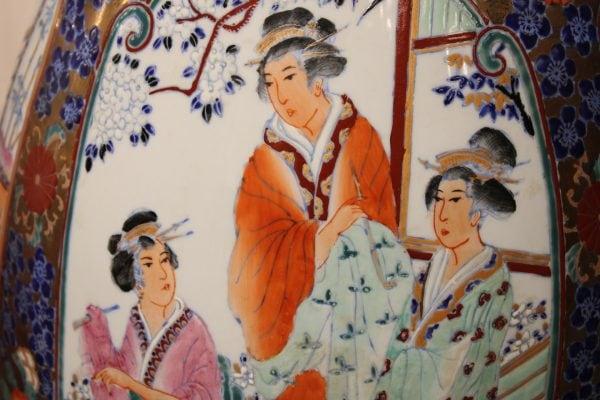 Japoniškos porcelianinės vazos 20 a.