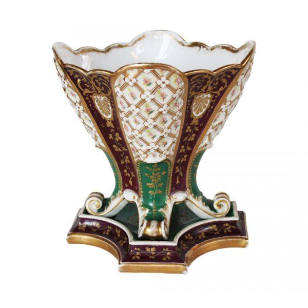 Antikvarinė porcelianinė vaza 19 a. pab.