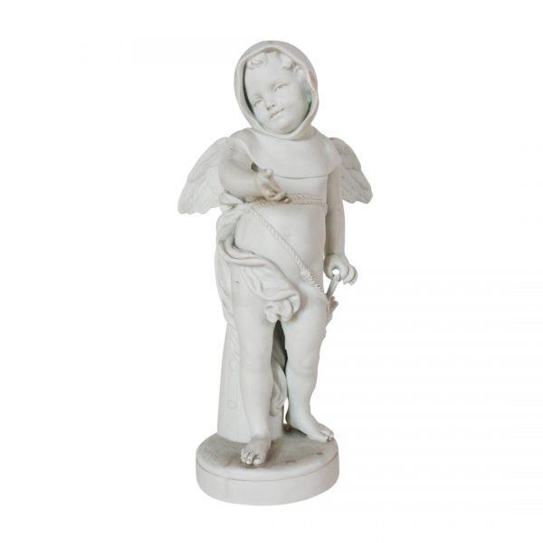 "Louis-Simon Boizot porceliano biskvito skulptūra ""Amūras"" 19 a. pab."