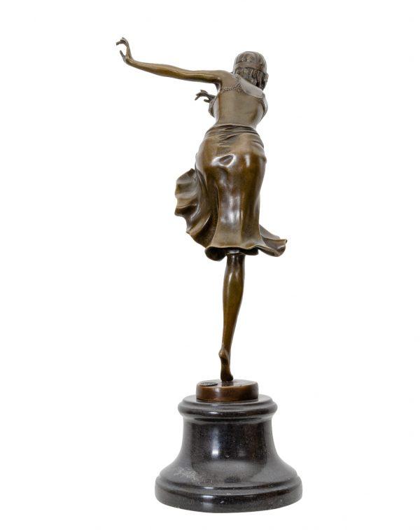 """D. H. Chiparus Art Deco bronzinė skulptūra """" Indijos šokėja"""""""