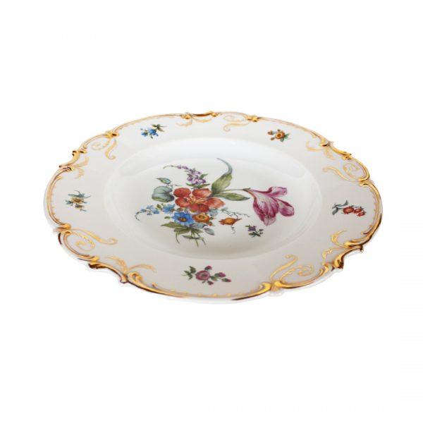 Vokiška vintažinė porcelianinė lėkštė