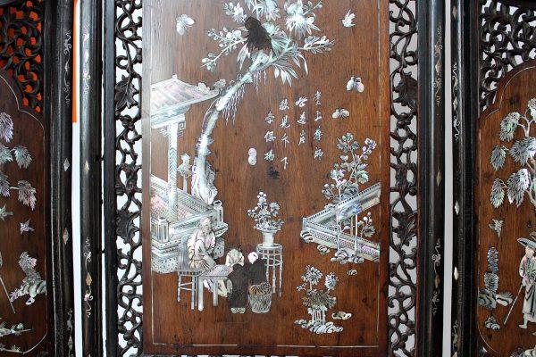 Antikvarinė kiniška širma 19 a. pab.