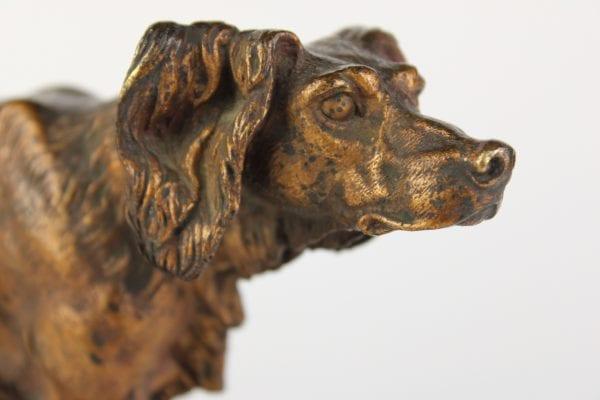 """Antikvarinė J. Moigniez bronzinė skulptūra """"Seteris"""""""