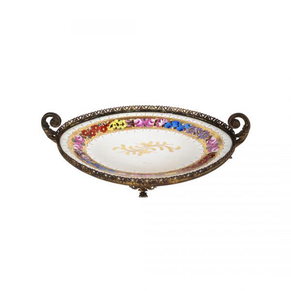 Antikvarinė Limoges porcelianinė lėkštė19 a. pab.
