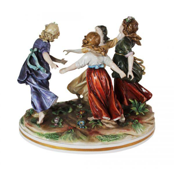 """Ludwigsburg porcelianinė figūrėlė """"Metų laikai"""" 19 a. pab."""
