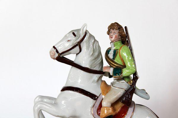 "Kister, Scheibe-Alsbach porcelianinė figūrėlė ""Raitelis"""